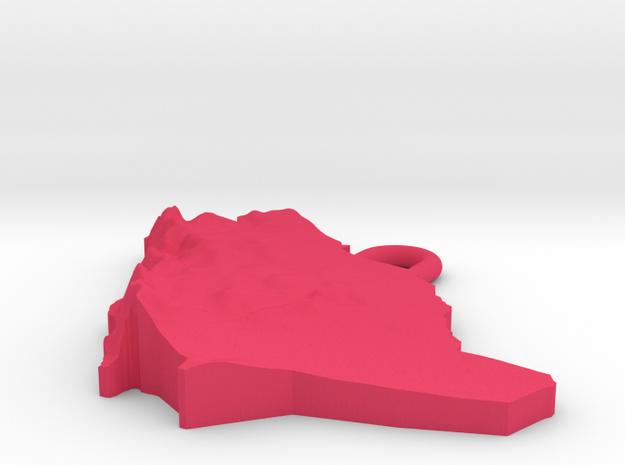 Saudi Arabia Earring 3d printed