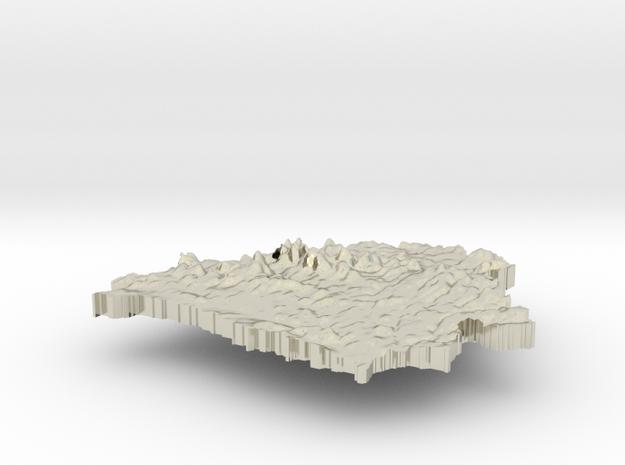 Belarus Terrain Silver Pendant 3d printed