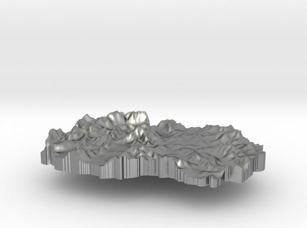 Macedonia Terrain Silver Pendant in Raw Silver