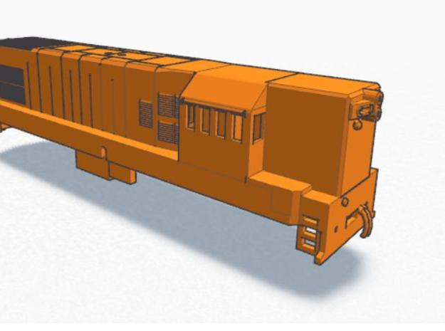 1:120 (TT) Scale G12 (T42) 3d printed Right Hand View