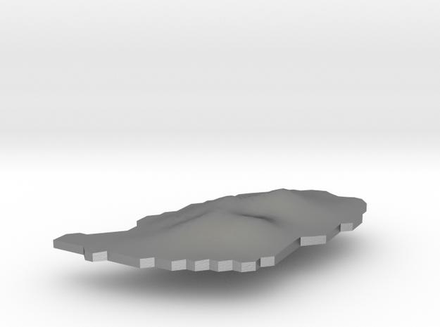 Grenada Terrain Silver Pendant in Raw Silver