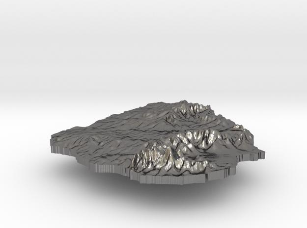 Uruguay Terrain Silver Pendant 3d printed