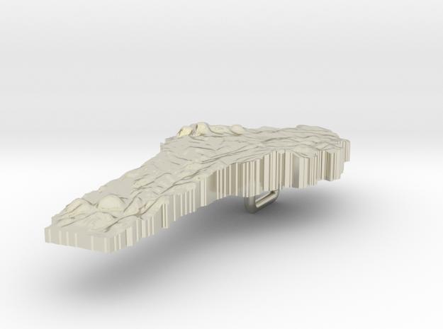 Benin Terrain Silver Pendant 3d printed