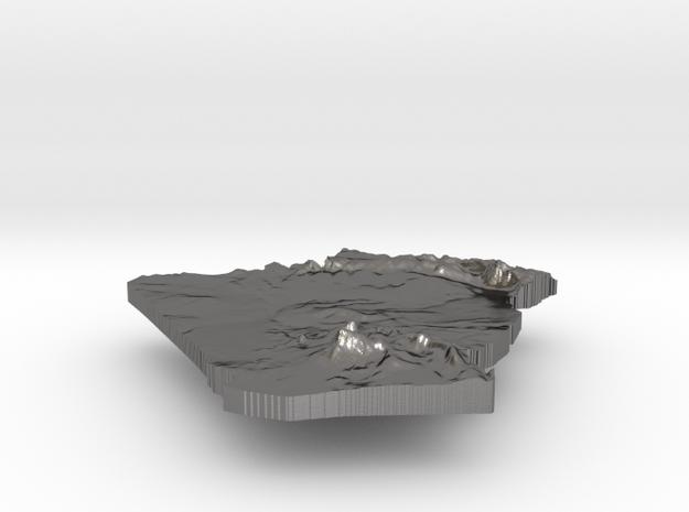 Algeria Terrain Silver Pendant 3d printed