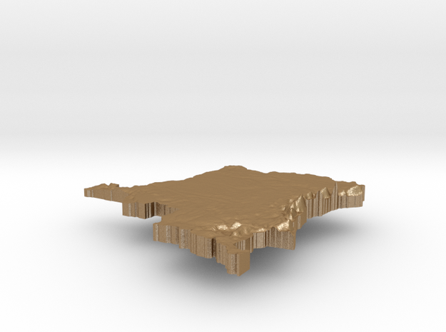 Democratic Republic of the Congo Terrain Silver Pe 3d printed
