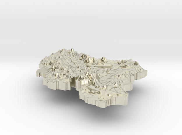 Iran Terrain Silver Pendant 3d printed