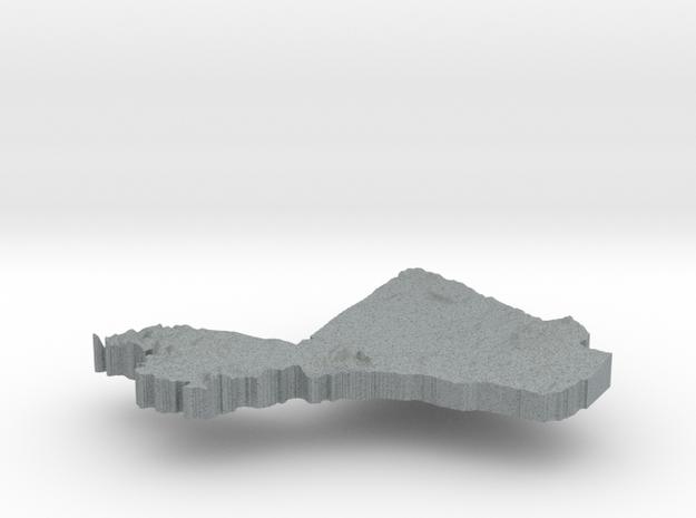 Mali Terrain Silver Pendant 3d printed