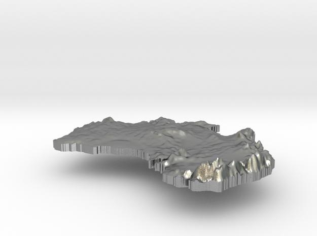 Australia  Terrain Silver Pendant in Natural Silver