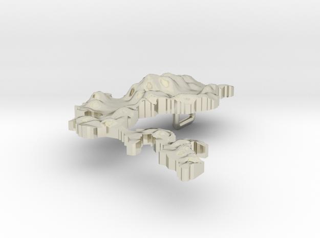 Philippines Terrain Silver Pendant 3d printed