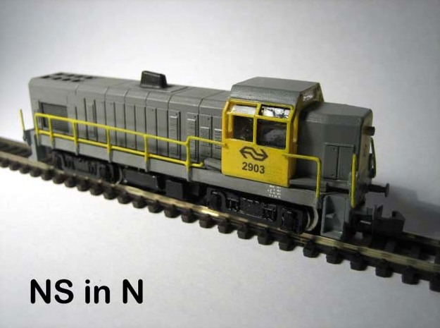 N NS 2900 diesellocomotief in Frosted Ultra Detail