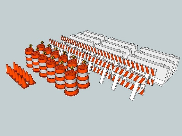15mm Traffic Cones and Barriers in White Natural Versatile Plastic