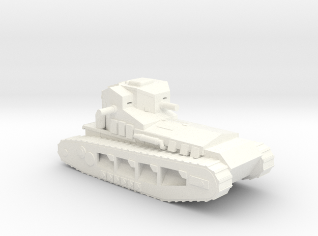 1/100 WW1 Whippet tank in White Processed Versatile Plastic