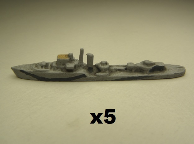 Adrias (Hunt III class) 1:1800 x5 3d printed Comes unpainted. Set of 5