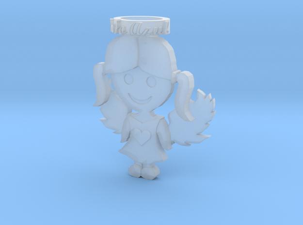 Pendant Blue Angel Girl Frozen Detail in Frosted Ultra Detail
