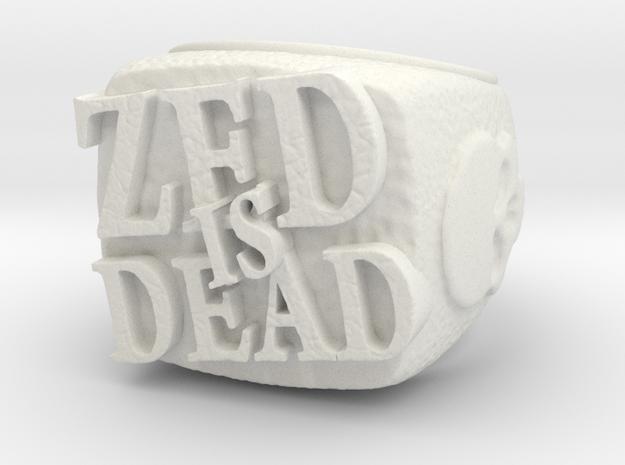 Zed is Dead Ring in White Natural Versatile Plastic