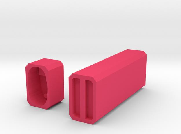 Engraveable Bic Case in Pink Processed Versatile Plastic