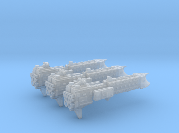 'BFG' Terran Scimitar Class Escort Ship Squadron in Smooth Fine Detail Plastic
