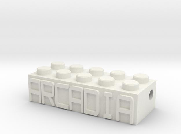 ARCADIA in White Natural Versatile Plastic