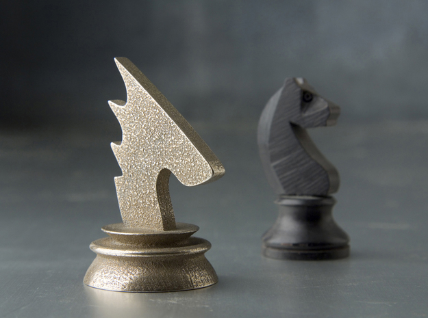 Avatar Knight in Polished Bronzed Silver Steel