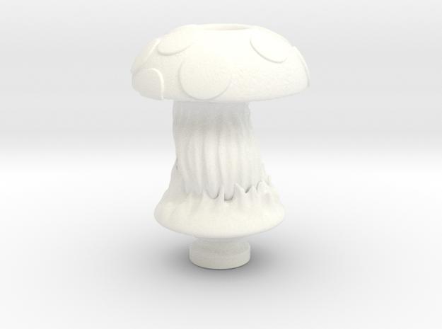 Shroom Vapor Drip Tip in White Processed Versatile Plastic