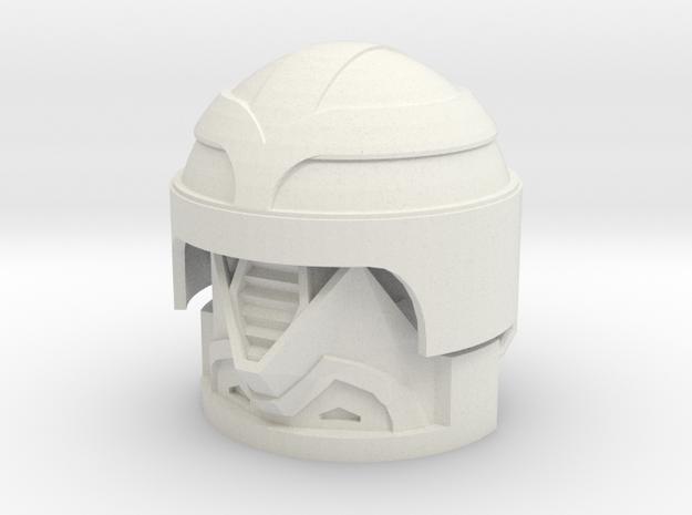1:6 Scale Enemy Field Engineer Helmet in White Natural Versatile Plastic