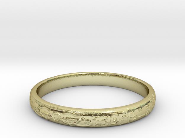 Ra ring(size = USA 5.5,Japan 10, English K) in 18k Gold
