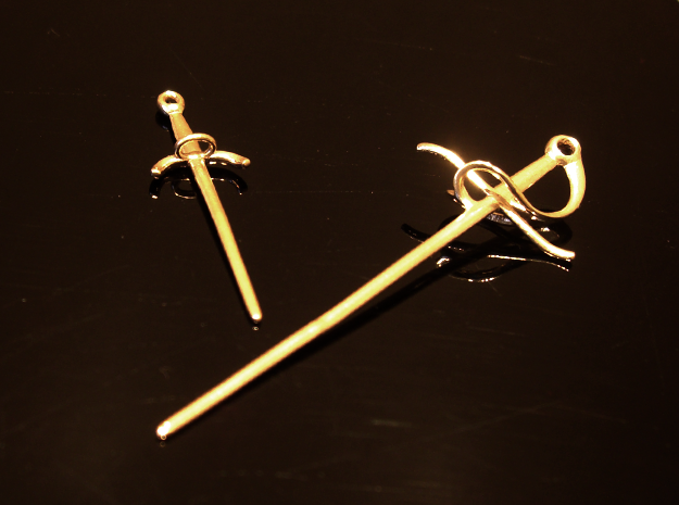 Rapier and Dagger (17th C. sword) earrings