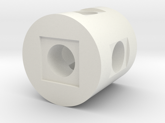 Full Round in White Natural Versatile Plastic