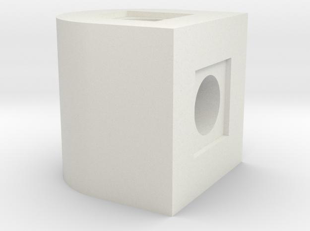 180 Deg Rotation Block in White Natural Versatile Plastic