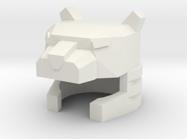 Robohelmet: Jaggedy Cat in White Natural Versatile Plastic