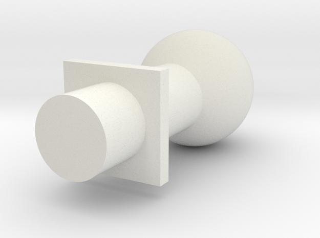 Ball Post 5 Mm in White Natural Versatile Plastic