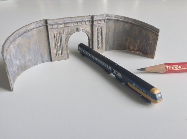 Middle Hill Tunnel (Spur T / T Gauge) in Smooth Fine Detail Plastic