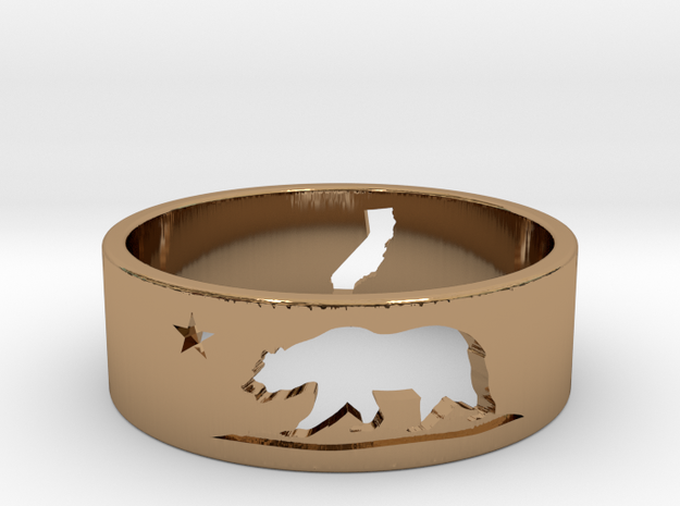 California Ring with Map (Size 9)