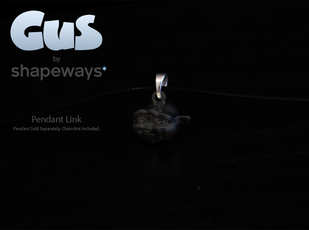 Gus Pendant Link in Polished Silver