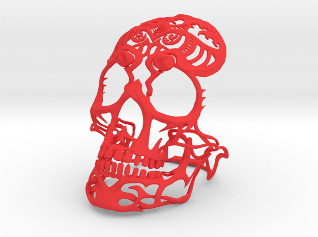 Skull sculpture Tribal Sugar 100mm 3d printed
