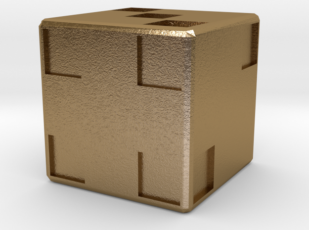 Dice128 in Polished Gold Steel