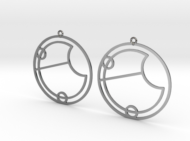 Eve - Earrings - Series 1 in Fine Detail Polished Silver