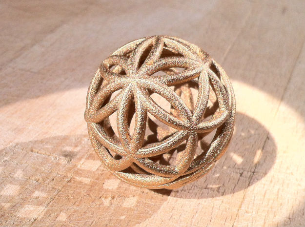 3D 50mm Orb of Life (3D Seed of Life) in Sandstone