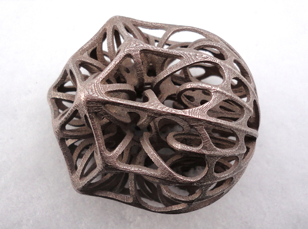 Acorn Knot Buster in Polished Bronzed Silver Steel