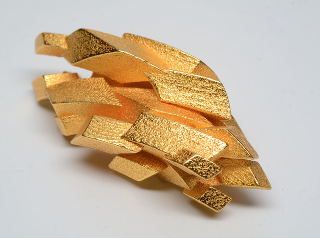 "Gold ""fool's gold"" mineral - imaginary rock collec in Polished Gold Steel"