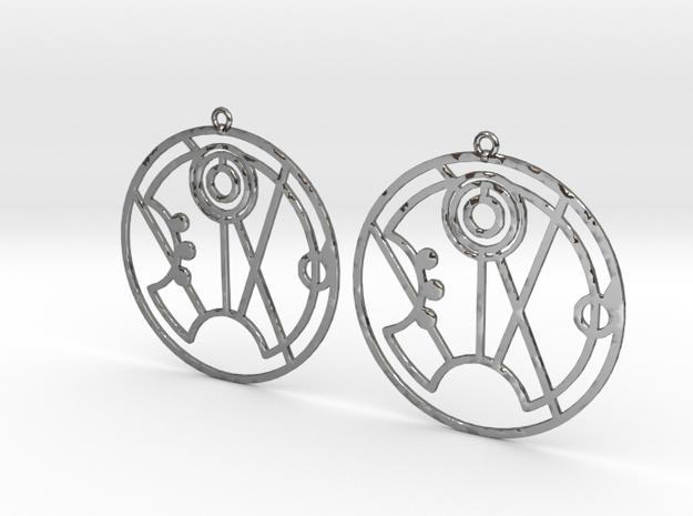 Summer - Earrings - Series 1 in Fine Detail Polished Silver