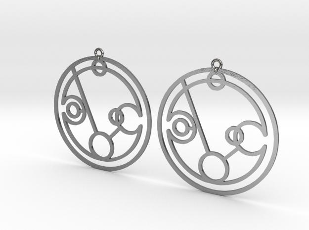 Phoebe - Earrings - Series 1 in Polished Silver