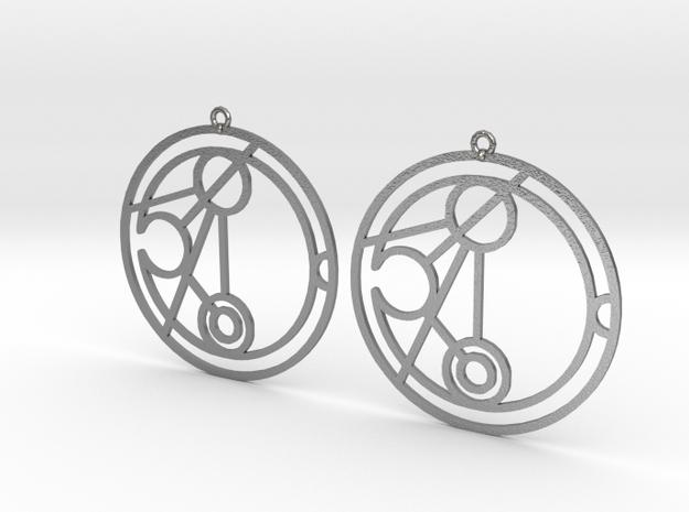 Niamh - Earrings - Series 1 in Raw Silver