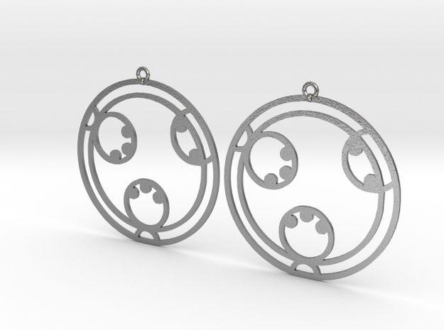 Layla - Earrings - Series 1 in Natural Silver