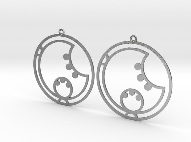 Lara - Earrings - Series 1 in Raw Silver