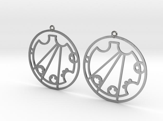 Crystal / Krystal - Earrings - Series 1 in Polished Silver