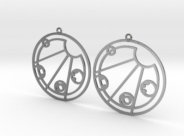 Kelsey - Earrings - Series 1 in Polished Silver
