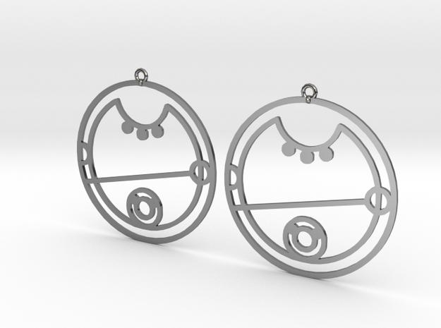 Keira - Earrings - Series 1 in Premium Silver