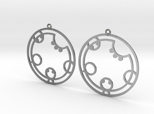 Kathryn / Cathryn - Earrings - Series 1 in Polished Silver
