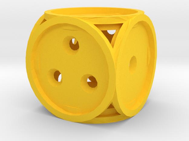 Dice132 in Yellow Processed Versatile Plastic